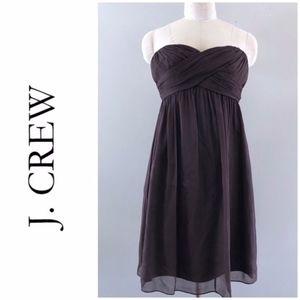 J. Crew Taryn Plum dress in silk chiffon A007